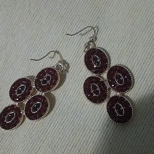 Pair of nice red earrings..NEVER TARNISHED